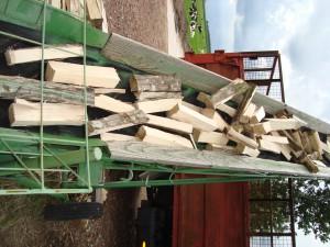 Brandhout klieven